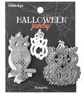 hildie & jo Halloween 9 Pack Flat Stamped Owl Shaped Charms