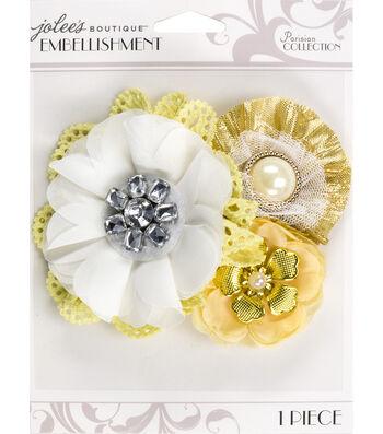Jolee's Boutique Parisian Natural Embellished Flower