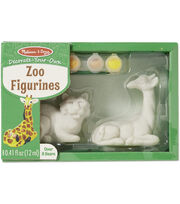 Melissa & Doug® Decorate-Your-Own Zoo Figurines Kit, , hi-res