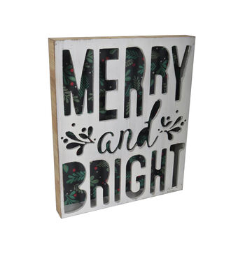 Maker's Holiday Christmas Cut Out Wall Decor-Merry & Bright