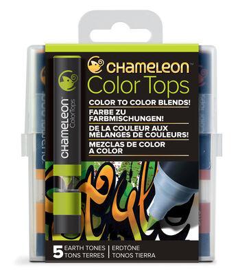 Chameleon 5 pk Color Tops Set-Earth Tones
