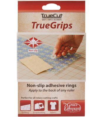 TrueCut Non Slip Ruler Grips Transparent 15/Pkg