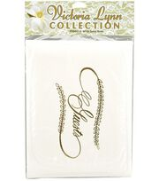 Darice® Wedding Guest Book-White W/Gold Lettering , , hi-res