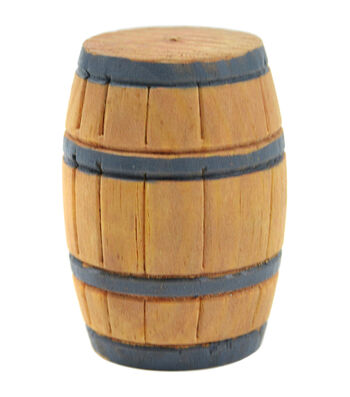 Midwest Design Mini Garden Wood Barrel Miniature