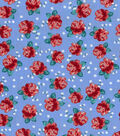 Buttercream™ Poppy Cotton Fabric 43\u0022-Ditsy Rose Red