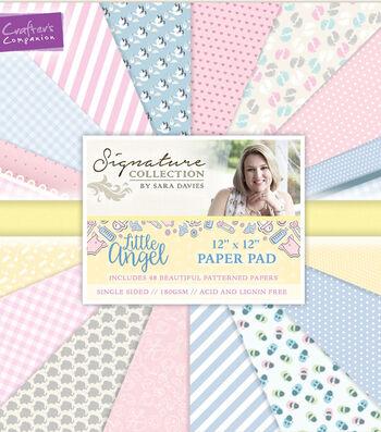 "Single-Sided Paper Pad 12""X12""-Sara Davies Signature Little Angel"