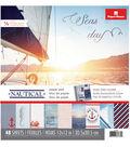 Paper House® Nautical Pack of 48 12\u0027\u0027x12\u0027\u0027 Paper Pad