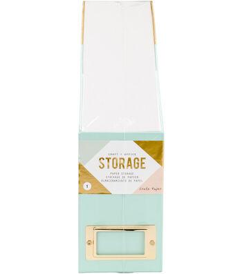 Desktop Paper Storage-Blue & Gold