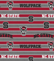 "North Carolina State Wolfpack Fleece Fabric 58""-Polo Stripe, , hi-res"