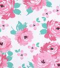 Nursery Cotton Fabric 43\u0022-So Loved Large Floral