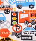 Anti-Pill Fleece Fabric 59\u0022-Rescue Vehicles
