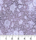 Two Daughters™ Cotton Fabric 43\u0022-Tonal Floral Purple