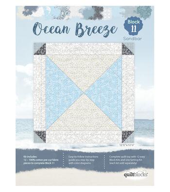 Quilt Block Ocean Breeze 12-Pieces Block 11 Kit-Sandbar