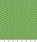Quilter\u0027s Showcase Cotton Fabric 44\u0027\u0027-Hexagon Wire on Kiwi