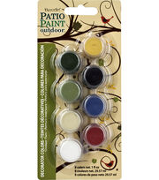 DecoArt Patio Paint Decorator Color 8 Pot Paint Pot 4x2, , hi-res