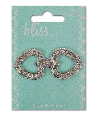 Bliss Crystal Heart Buckle
