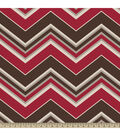 Anti-Pill Fleece Fabric Multi Rust Chevron