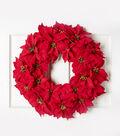 Blooming Holiday 24\u0027\u0027 Poinsettia Wreath