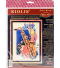 RIOLIS Stamped Cross Stitch Kit 8.25\u0022X11.75\u0022-Jazz