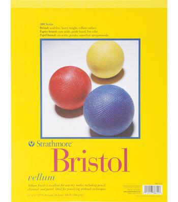 """Strathmore Vellum Bristol Paper Pad 11""""X14"""""""