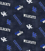 "University of Kentucky Wildcats Flannel Fabric 42""-Dsitressed Logo, , hi-res"