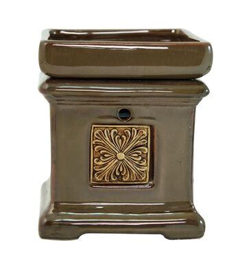 Hudson 43™ Candle & Light Collection Brown Square Emblem Warmer