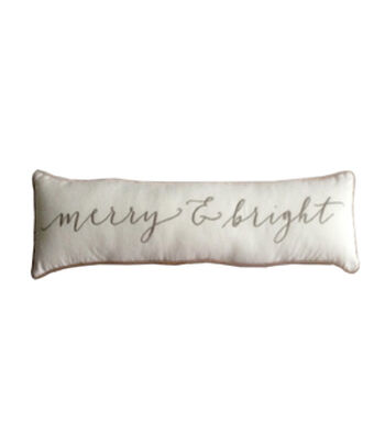 Maker's Holiday Christmas 9''x36'' Lumbar Pillow-Merry & Bright