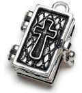 Darice Prayer Box Charm-Antique Silver Bible