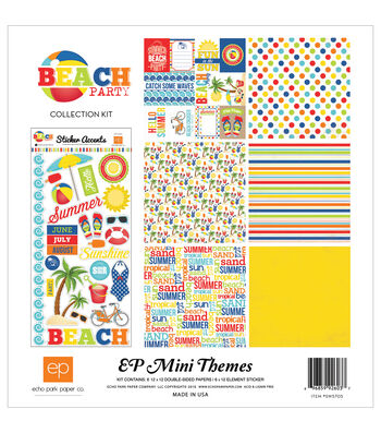 Echo Park Paper Company Beach Party Collection Kit 12''x12''