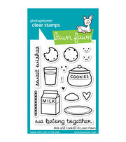 "Lawn Fawn Clear Stamps 3""X4""-Milk & Cookies, , hi-res"