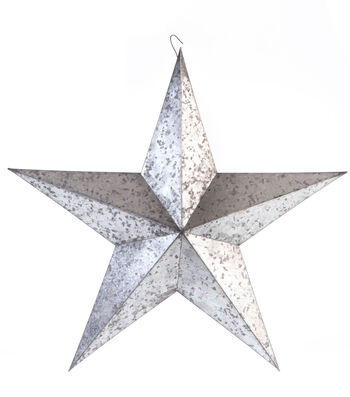 Americana Patriotic 18'' Metal Galvanized Star