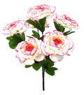 Blooming Spring 16.5\u0027\u0027 Ranunculus Bush-Cream & Pink