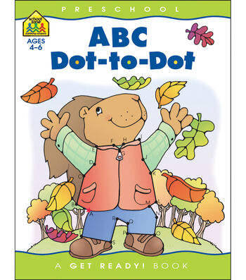 School Zone Preschool Workbooks 32 Pages-ABC Dot To Dot