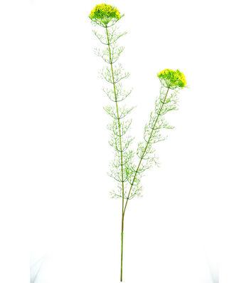 Bloom Room 34'' Mini Flower Dill Leaf Spray-Yellow