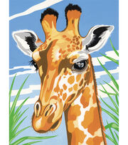 Reeves Junior Paint By Number Kits 9''x12'' Giraffe, , hi-res