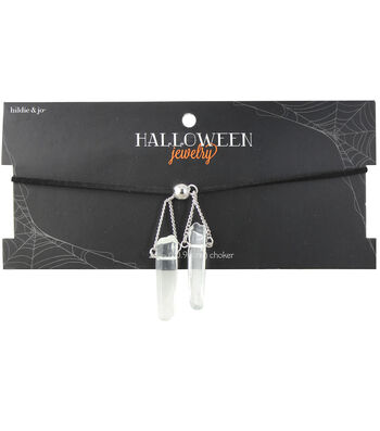 hildie & jo™ Halloween Black Choker Necklace with Crystal Dangle