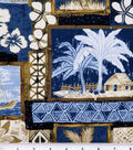 Tropical Shirting Fabric 43\u0022-Tiki Patch