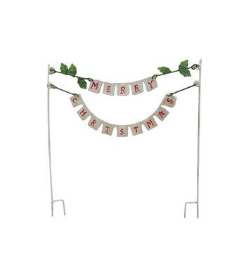 Maker's Holiday Christmas Littles Metal Banner-Merry Christmas