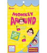 Darice Sticker Book-234PK/Monkey Around, , hi-res