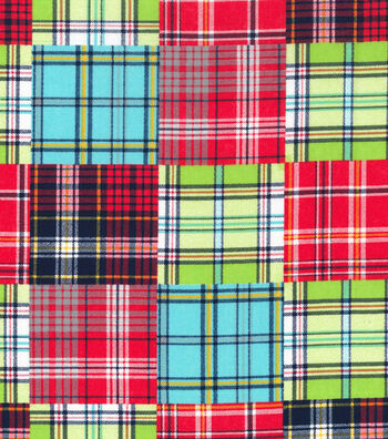 Nursery Cotton Fabric 43''-Madras Plaid