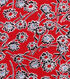 1930\u0027s Cotton Fabric 43\u0027\u0027-Wispy Floral on Red
