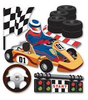 Jolee's Boutique Themed Ornate Stickers-Go Carts, , hi-res