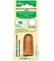 Natural Fit Leather Thimble-Large, , hi-res