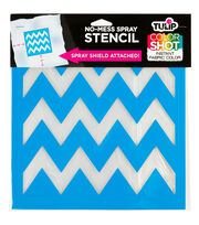 Tulip® ColorShot No-Mess Spray Stencil-Chevron, , hi-res