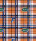 University of Florida Gators Fleece Fabric 58\u0022-Plaid