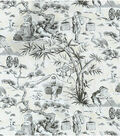 Home Decor 8\u0022x8\u0022 Swatch Fabric-Waverly Haiku Toile Noir