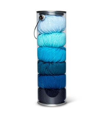 Fair Isle Yarn Liberty Craft Colors-Pacific