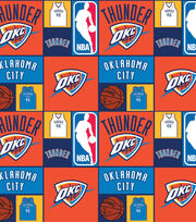 "Oklahoma City Thunder Cotton Fabric 44""-Patch, , hi-res"
