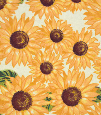 "Snuggle Flannel Fabric 42""-Sunflowers"