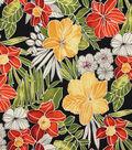 Solarium Outdoor Fabric-Aloha Noir